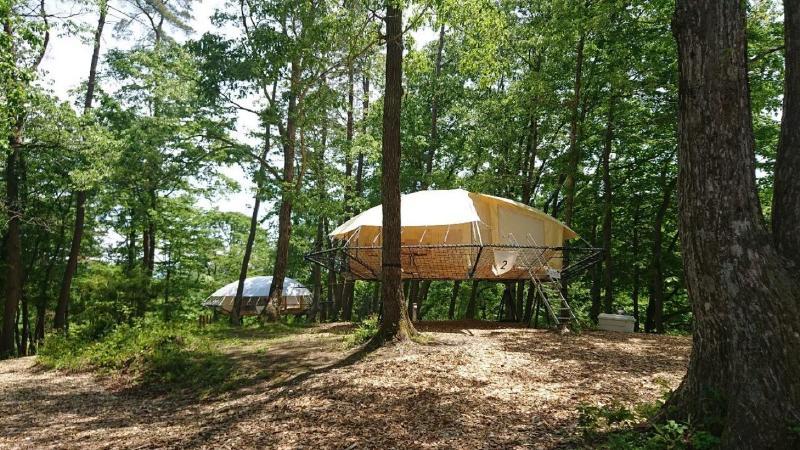 おしゃれなキャンプテント
