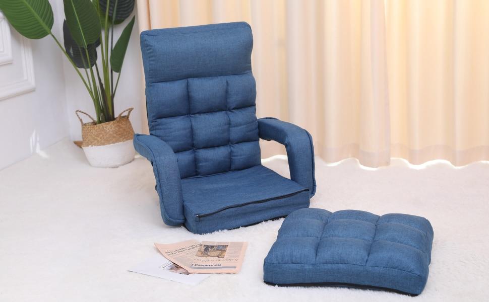 在宅勤務(テレワーク)におすすめな座椅子・WLIVE 座椅子 座椅子 あぐら座椅子 ソファ ソファー ソファ一人掛け  座いす 座イス   在宅勤務  テレワーク