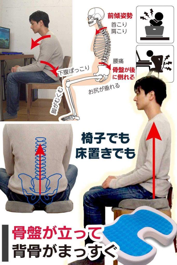 iDeaR ゲルクッション 椅子 骨盤 まっすぐ 2020 腰 背中 おすすめ ジェルクッション ハニカム 腰痛 ランキング 評判 比較 日本 評価